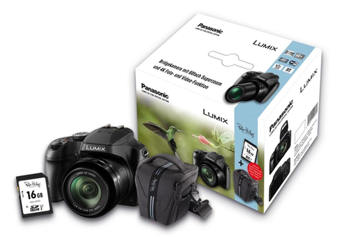 PANASONIC DC-FZ83 EG-K Bridgekamera + Zubehörpaket 16GB SDHC + Tasche