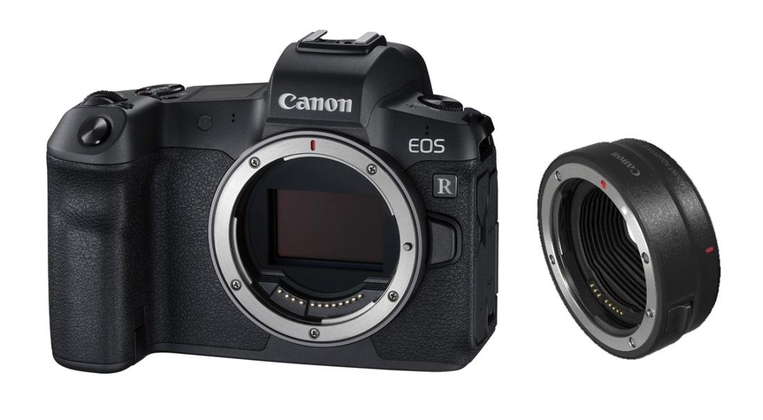 CANON EOS-R BODY Vollformat-Systemkamera + EF-EOS R Adapter
