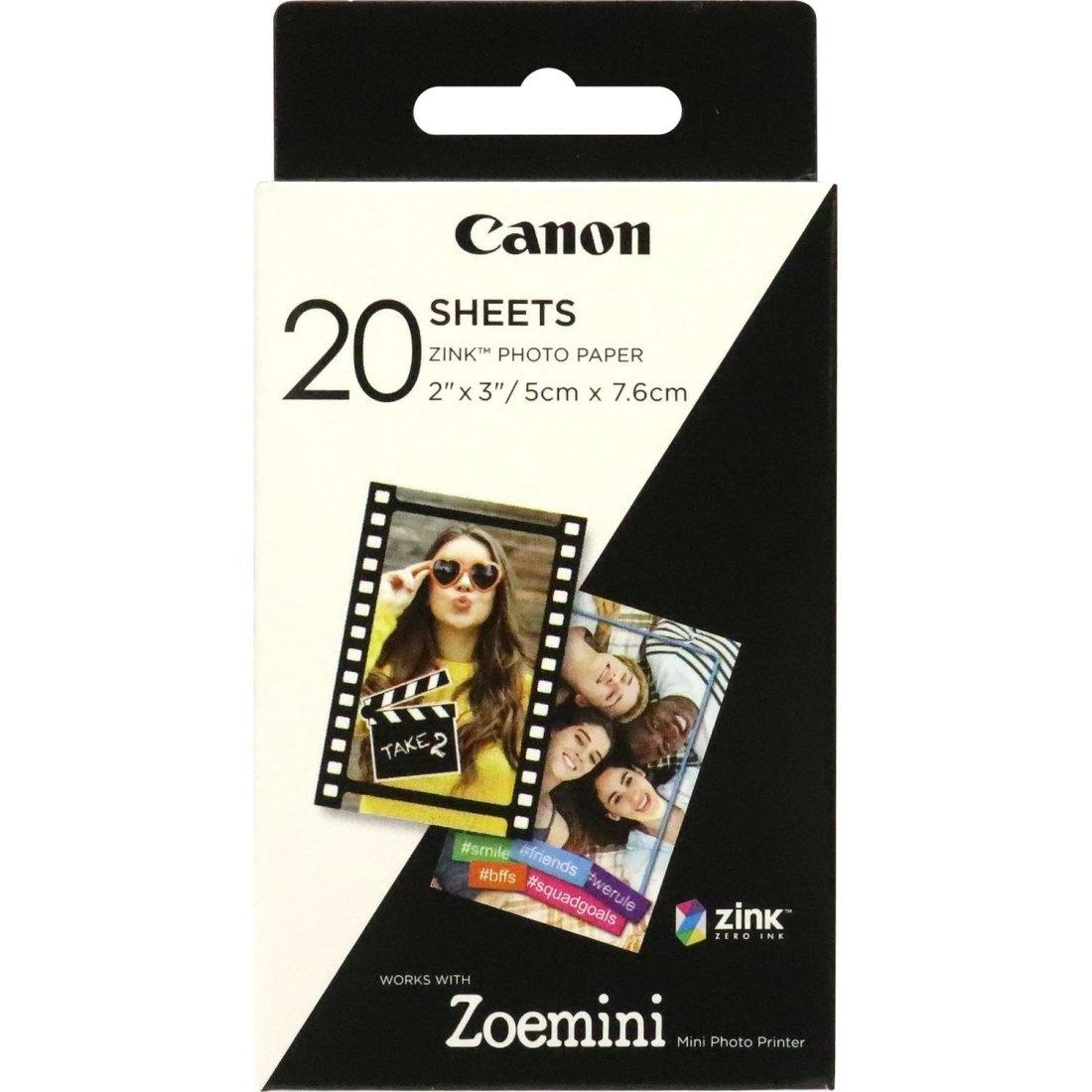 Canon ZP-2030 Zink Papier für Zoemini Drucker 20 Blatt
