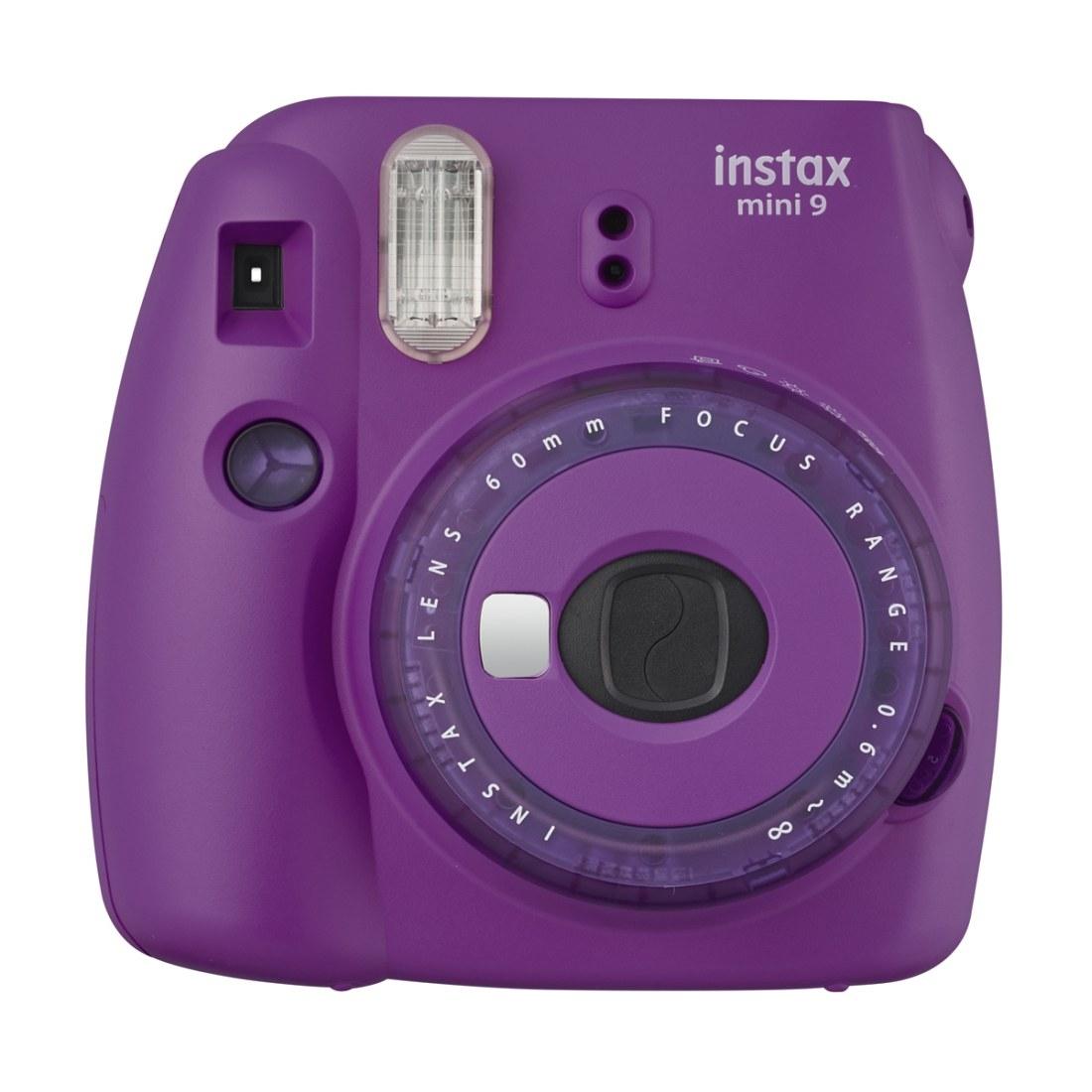 Fuji Instax mini 9 Sofortbildkamera clear purple