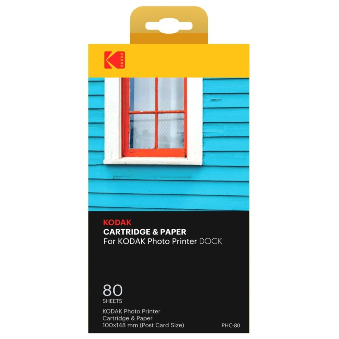 Kodak PHC-80 Farbband&Papier 80 Blatt für Fotodrucker PD460