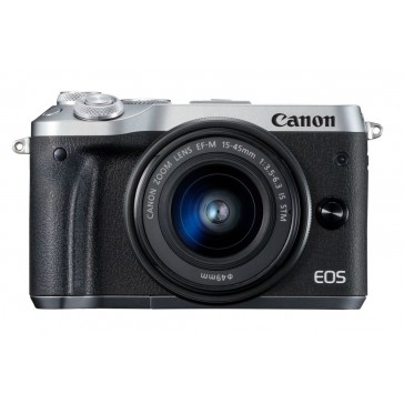 Canon EOS M6 Kit mit 15-45mm silber