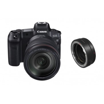 CANON EOS-R Kit RF 24-105mm L IS USM Vollformat-Systemkamera + EF-EOS R Adapter  abzüglich 100 Euro Sofortrabatt = 2629,00 Euro