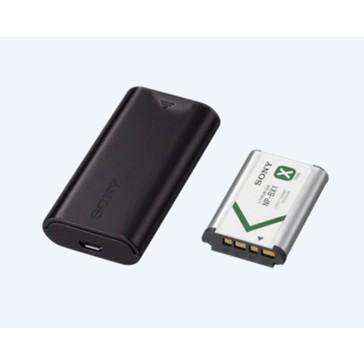 Sony ACC-TRDCX Zubehörkit (NP-BX1 und BC-DCX2) USB-Reiseladegerät und Akku