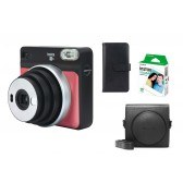 Fuji Instax Square SQ6 ruby red + Zubehörpaket Tasche+ Film+ Album