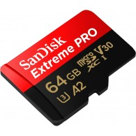Sandisk 64GB microSDXC Extreme Pro U3 V30 mit SD-Adapter (SDSQXCY-064G-GN6MA)