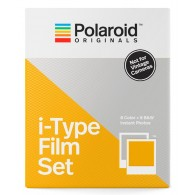Polaroid i-Type Sofortbildfilm Set 1 Color + 1 B&W für Polaroid OneStep Kameras