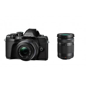 OLYMPUS OM-D E-M10 Mark III Kit + 14-42mm II R + 40-150mm schwarz