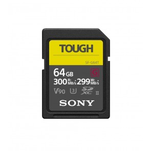 Sony 64GB SDXC TOUGH UHS-II U3 300 MB/s (SF-G64T)