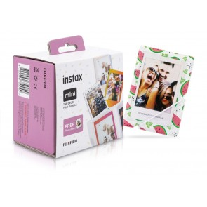 Fuji Instax Mini Deco Film Bundle 3 Filme (Rainbow, Candypop, Macaron) + Album
