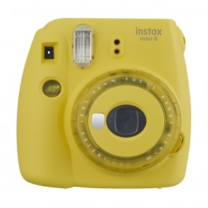 Fuji Instax mini 9 Sofortbildkamera clear yellow