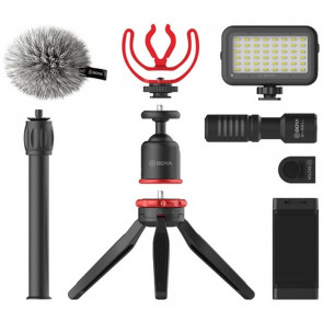 BOYA BY-VG350 Vlogging Kit Smartphone-Video-Kit mit BY-MM1+ Mikrofon